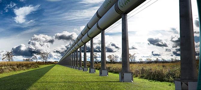 Проект hyperloop (трубопроводный транспорт) стартует в 2018 году!