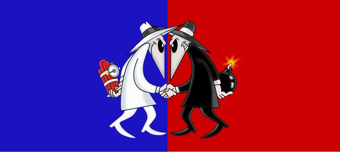 Spy vs Spy. Picture courtesy bluenred.com