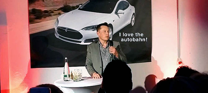 Musk in Germany - Picture courtesy siliconbeat.com