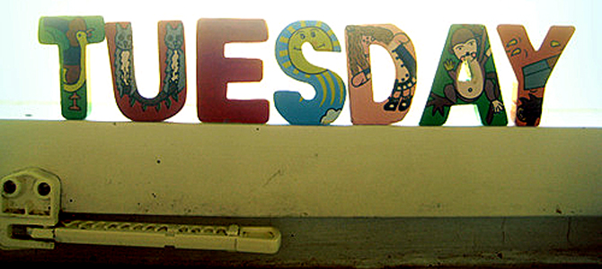 Tuesday - Picture courtesy blogspot.com