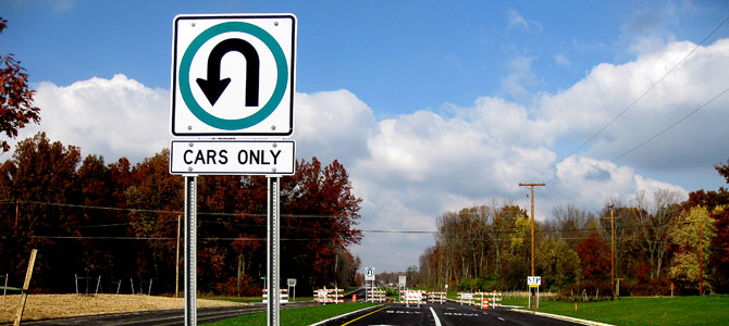 U-Turn - Picture courtesy coengr.co.allen.oh.us
