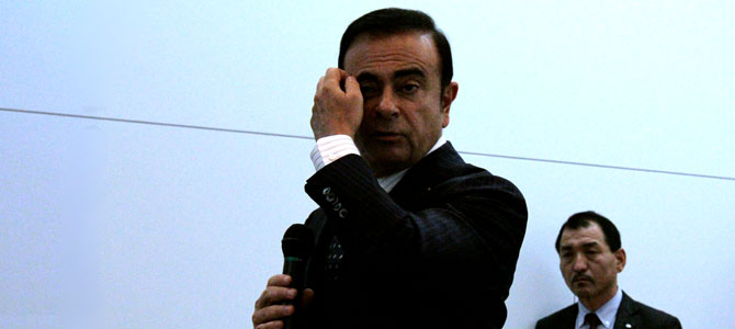 Ghosn thinks - Picture courtesy Bertel Schmitt