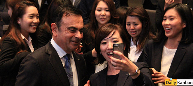 Ghosn and diversity - Picture courtesy Bertel Schmitt