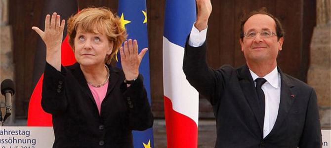 Merkel-Hollande Picture courtesy Telegrph.co.uk