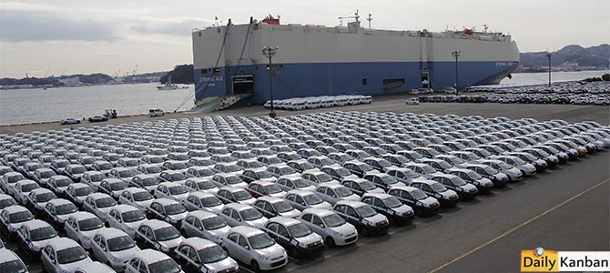 Misleading picture: Ship brings cars from Yokohama to Kyushu