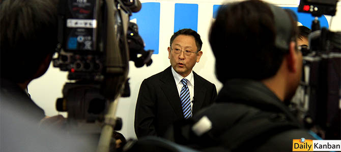 Akio Toyoda, February 24, 2015 in Motomachi