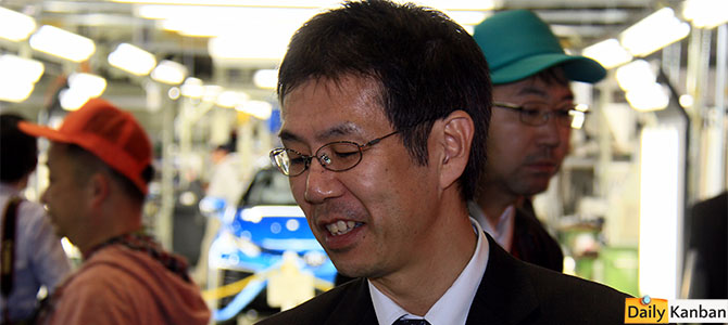 The Mirai's father, Satoshi Ogiso, caught at the sidelines