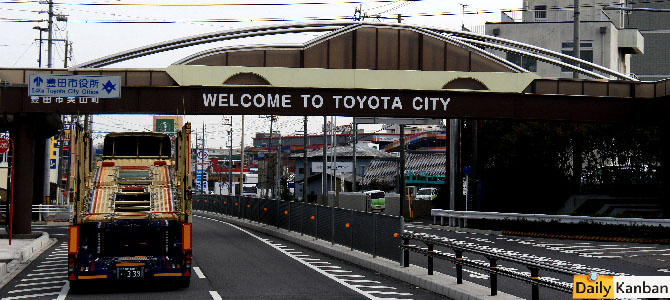 Welcome to Toyota City - Picture courtesy Bertel Schmitt