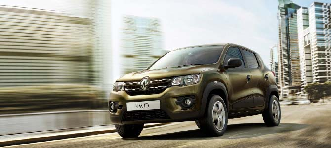 Low-cost benchmark: Renault's Kwid, $5000 in India
