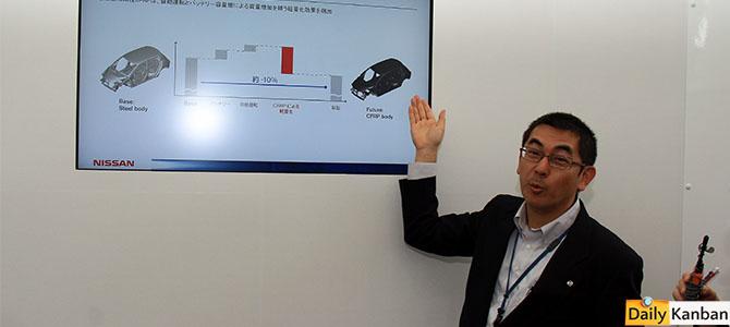 Yashuihro Tosaka explains carbon fiber in future Leaf