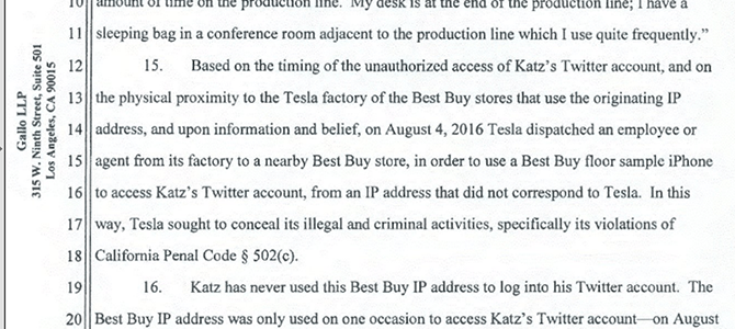 Excerpt from Katz's counter claim